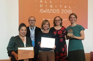 Preisverleihung des All Digital Award 2018
